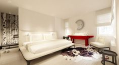 White bedroom furniture with nice background (wardrobe)