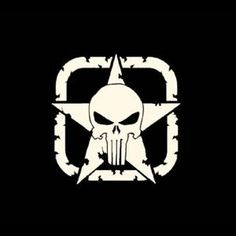 Punisher Jeep Star - Vinyl Decal Choose Size and Color Made with 100% Automotive Grade Vinyl.