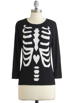 X-ray of Sunshine Sweater. Wearing this skeleton sweater from Kling is a simple way to ensure a positive outcome to your day! #blackNaN