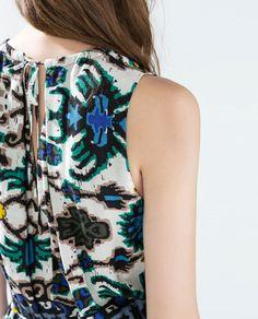 Image 3 of LONG ETHNIC PRINT DRESS from Zara