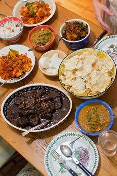 The completed feast for the Eid al-Fitr celebration. (Photo: Katherine Taylor for The New York Times)