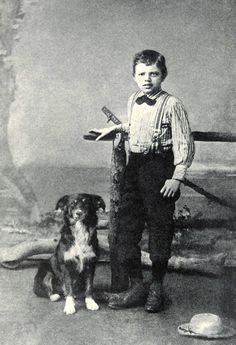 Der neunjährige Jack London mit seinem Hund Rollo. Bild: Wikimedia Commons