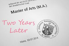 """""""Master of Arts - Two Years Later"""" https://haileyjaderyan.com/2016/07/03/master-of-arts-two-years-later/"""