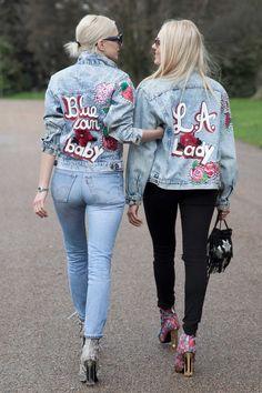 On the street at London Fashion Week. Photo: Emily Malan/Fashionista.