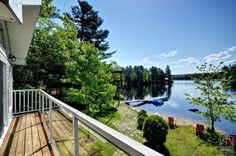 Cottage Vacation Rental - Lee Valley - Great views of the lake from the deck!