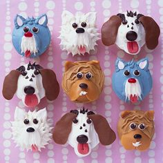 """Part craft and part dessert, these Puppy Cupcakes are a perfect indoor project for those """"I'm bored!"""" afternoons. http://www.parents.com/recipes/cooking/kid-friendly-food/decorate-playful-puppy-cupcakes/?socsrc=pmmpin120612wwfPuppyCupcakes"""