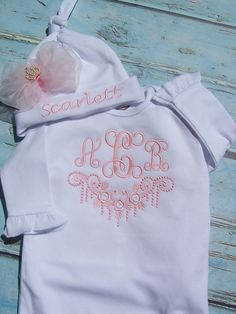 Monogram baby boy baby gift take home outfit personalized baby monogram baby boy baby gift take home outfit personalized baby boy clothes coming home outfit layette gown bodysuit bib burp cloth pinterest negle Gallery