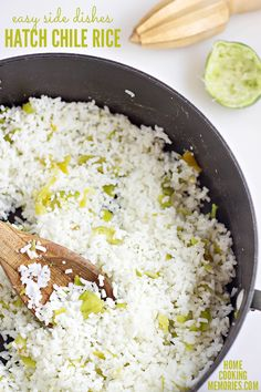 Get dinner on the table in no time with easy side dishes, such as this Hatch Chile Rice recipe. A delicious choice for your Southwest or Mexican dinners.