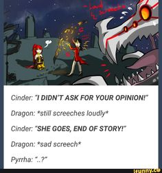 listen to reject Smaug Cinder