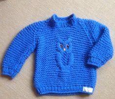Blå uglesweater