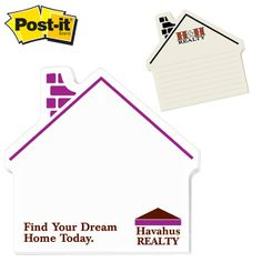 Promotional Post-it Shape House Shape Large Sticky Note | Customized Post-It Die Cut Sticky Notes | Promotional Die Cut Sticky Notes