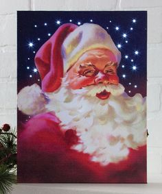Another great find on #zulily! Vintage Santa LED Light-Up Canvas #zulilyfinds