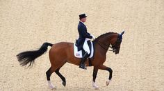 Jan Ebeling of the United States riding Rafalca competes in the Team Dressage Grand Prix on Day 6 of the London 2012 Olympic Games at Greenwich Park