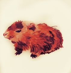 Guinea pig stickers (from an original painting)