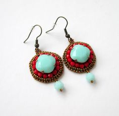 mint Mint, Drop Earrings, Jewelry, Jewlery, Jewerly, Schmuck, Drop Earring, Jewels, Jewelery