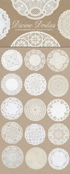 Vintage Divine Doily Graphics by Eclectic Anthology on @creativemarket