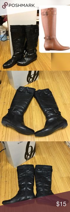 Nine West Buckle Up Boots Honestly it's need new sole, from last picture!! I really like this boots but I don't have place to fix it!! Nine West Shoes Ankle Boots & Booties