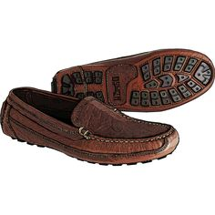 Men's Bison Leather Driving Moccasins - Duluth Trading