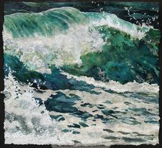 'Porthmeor Wave' is finished . This collage together with so many more are heading for The Salthouse Gallery in St Ives for my exhibition. I should be open to welcome everyone by mid-day tomorrow. For those who cannot come, more details of the wave at http://amandarichardsonartist.com/content/porthmeor-wave