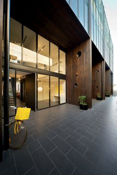 Melbourne-based studio Jackson Clements Burrows (JCB) designed the Hue Apartments project located in Melbourne, Victoria, Australia. 'Hue is a 5 storey apartment building that sits within a post industrial streetscape in Lord Street, Richmond. The site is bound on 3 sides by large 2-4 storey brick warehouse buildings whilst across the road are the rear yards of residential properties.'