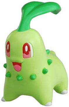 """Pokemon Black And White Takaratomy M Figure - M-071 - Chikorita/Chicorita by Takaratomy. Save 46 Off!. $6.99. Imported from Japan. Cute and collectible. Perfect as a gift for all Pokemon fans. Comes with rotating stand. New and sealed inside retail packaging. From the Manufacturer                Chikorita, known as the """"Leaf"""" Pokémon, is a small green reptilian Pokémon. It is primarily a pale leaf green color with large red eyes. Its most distinguishing feature is the large leaf..."""
