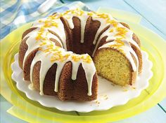 Ambrosia to the eyes and the palate! This lovely glazed cake is a breeze to make.