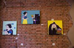 Wall_Luca De March _Bad Novels #LucaDeMarch #Art #BadNovels #Disney #Biancaneve #Bologna #TakeyourSpace  #PopArt