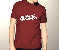 Avenue t-shirt mock up
