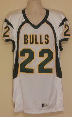 RARE South Florida USF Bulls Football Jersey Mens Size Medium  # 22 #powers #SouthFloridaBulls