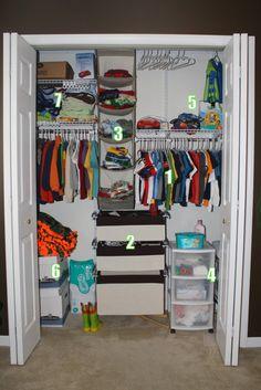 How to organize a kid's closet