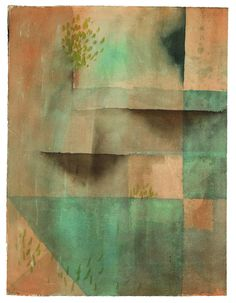 """Paul Klee 'Die Mauer' (The Wall) 1929 Watercolor on laid paper 18.03 x 13.62"""""""