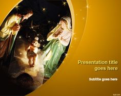 Free Nativity PowerPoint Template | Free Powerpoint Templates