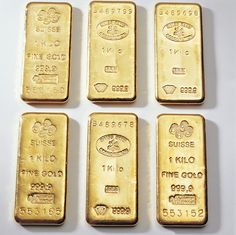 Gold ingots by Buy Silver Gold, via Flickr