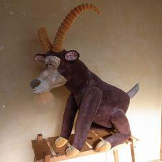 Goat's Weathered stuffed animal.