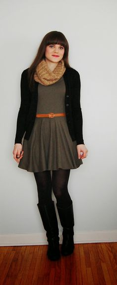 Good Gravy: Thrifty Outfit Thursday: Army Green Handmade Dress...