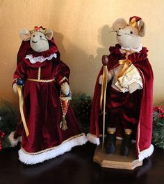 Christmas RAT KING and his QUEEN by PenelopesEmporium on Etsy, $32.00