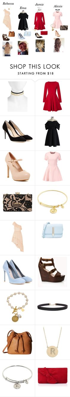 """""""New Year party dress code"""" by alexishambleton on Polyvore featuring mode, BP., WithChic, Jimmy Choo, Chicwish, Elizabeth and James, Love Moschino, Chrysalis, LoveShackFancy et Karen Walker"""