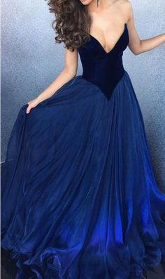 Royal Blue Ball Gown,Sweetheart Prom Dress,Sexy Evening Dress,Long Prom Dress