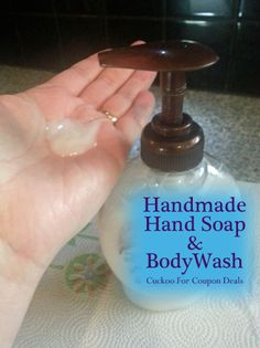 How to Make Hand Soap  -easy!