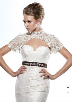Enzoani beaded bridal Jacket - Style DULCINA