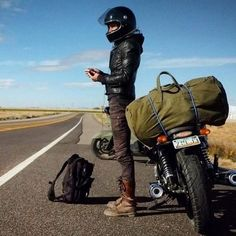 Great Camping HacksWhen it comes to camping out-of-doors, just like everything else, there will always be some great guidelines and camping cheats that can make the getaway a little easier, if not also down right more fun. Outdoor Camping Tips. Scooter Motorcycle, Motorcycle Travel, Motorcycle Style, Biker Style, Motorcycle Outfit, Retro Motorcycle, Lady Biker, Biker Girl, Compro Moto