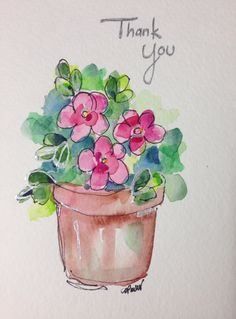 Thank+You+Watercolor+Card+by+gardenblooms+on+Etsy