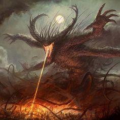 Fantasy Concept Art, Fantasy Character Design, Dark Fantasy Art, Fantasy Artwork, Daily Fantasy, Dark Art, Demon Artwork, Monster Concept Art, Fantasy Monster