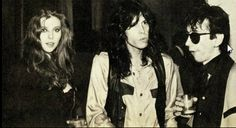 """From 1980-Bebe Buell, Steven & Stiv all as extras in a movie together~ Paul Simon's film """"One Trick Pony"""" @ The Plaza Hotel NYC photo via twitter"""