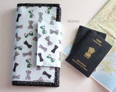 Floral slim wallet women credit card holder minimalist by chezvies