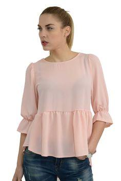 Γυναικεία πουκαμίσα ασύμμετρη με 3/4 μανίκια & βολάν σε άνετη γραμμή.Είναι μακρύτερη στο πίσω μέρος και το ύφασμα της είναι εξαιρετικής ποιότητας mousseline crepe. Bell Sleeves, Bell Sleeve Top, Spring Summer 2016, Ruffle Blouse, Collection, Tops, Women, Fashion, Moda