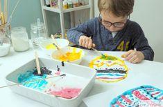 Pisanki 3D praca plastyczna z rosnących farb DIY Birthday Cake, Easter, Breakfast, Tutu, Desserts, Diy, Food, Morning Coffee, Tailgate Desserts