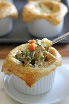 Lazy day chicken pot pie pot pies pies and main dishes individual chicken pot pies forumfinder Choice Image