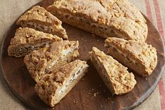 Have a tasty treat in the morning with Cream Cheese-Filled Apple Scones! Graham crackers, cinnamon and pecans make these apple scones so delicious. Kraft Recipes, Dessert Recipes, Kraft Foods, Scone Recipes, Apple Recipes, Recipes Dinner, Bread Recipes, Dinner Ideas, Calumet Baking Powder