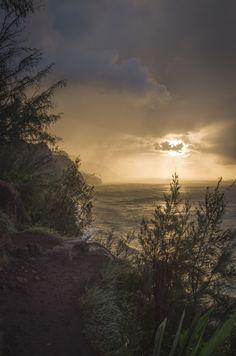 Nā Pali Coast Sunset on 500px by Nicolas Bourgogne, Gloucester, Canada